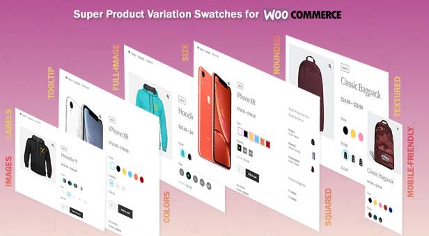 افزونه نمایش حرفه ای ویژگی های ووکامرس | Product Variation Swatches