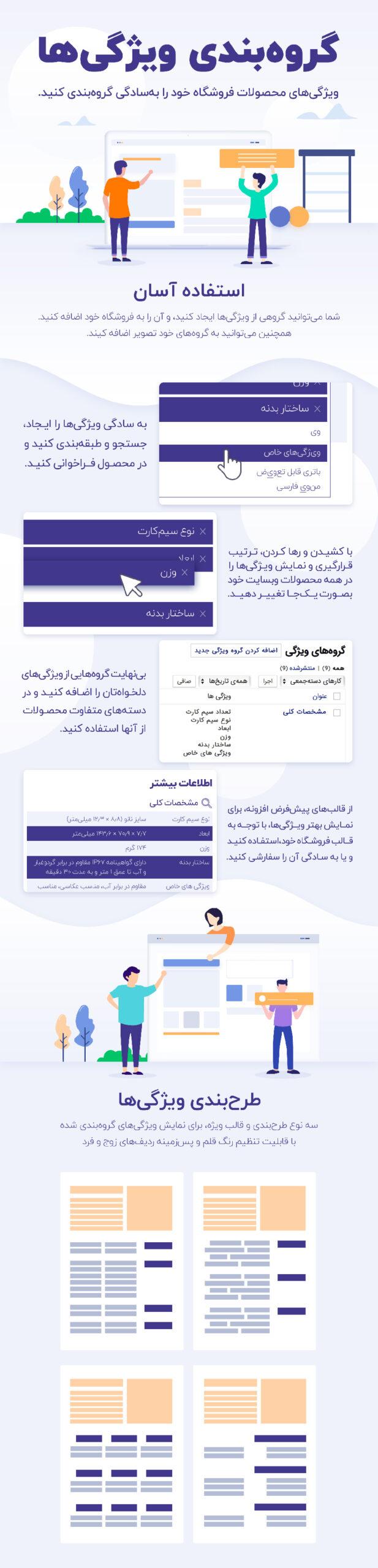 افزونه گروه بندی ویژگی های ووکامرس | WooCommerce Group Attributes